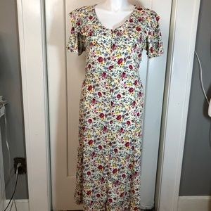 Vintage Honors Plus Size floral midi dress 14